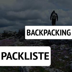 Backpacking Packliste