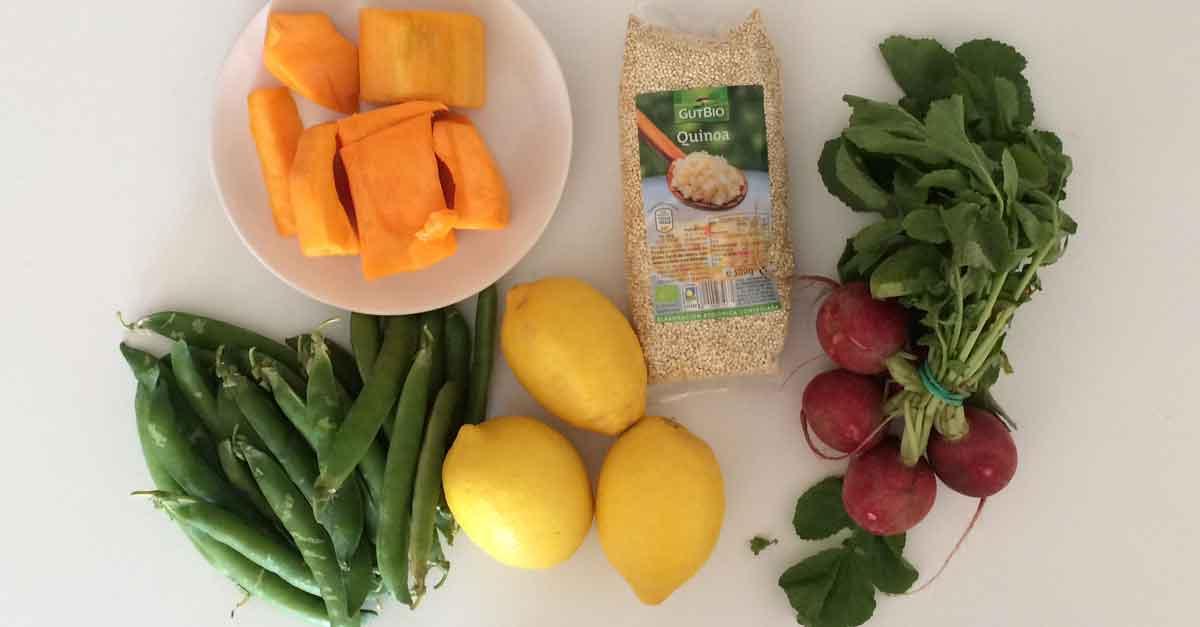 Quinoa Kuerbis Rezept Zutaten