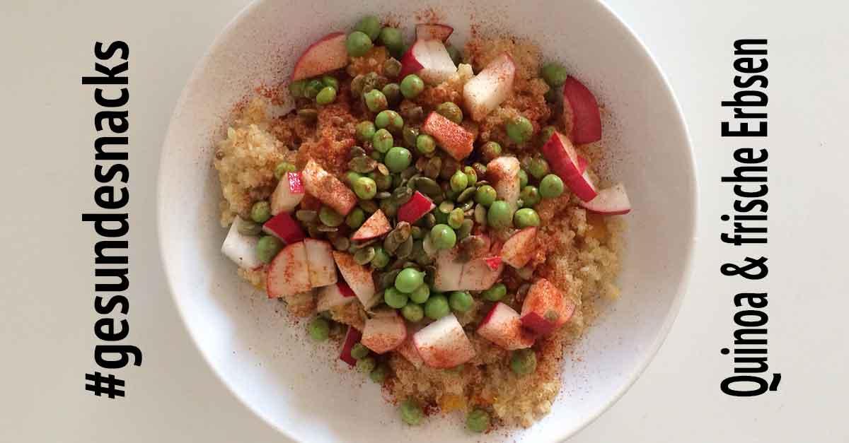 Quinoa und Erbsen Rezept