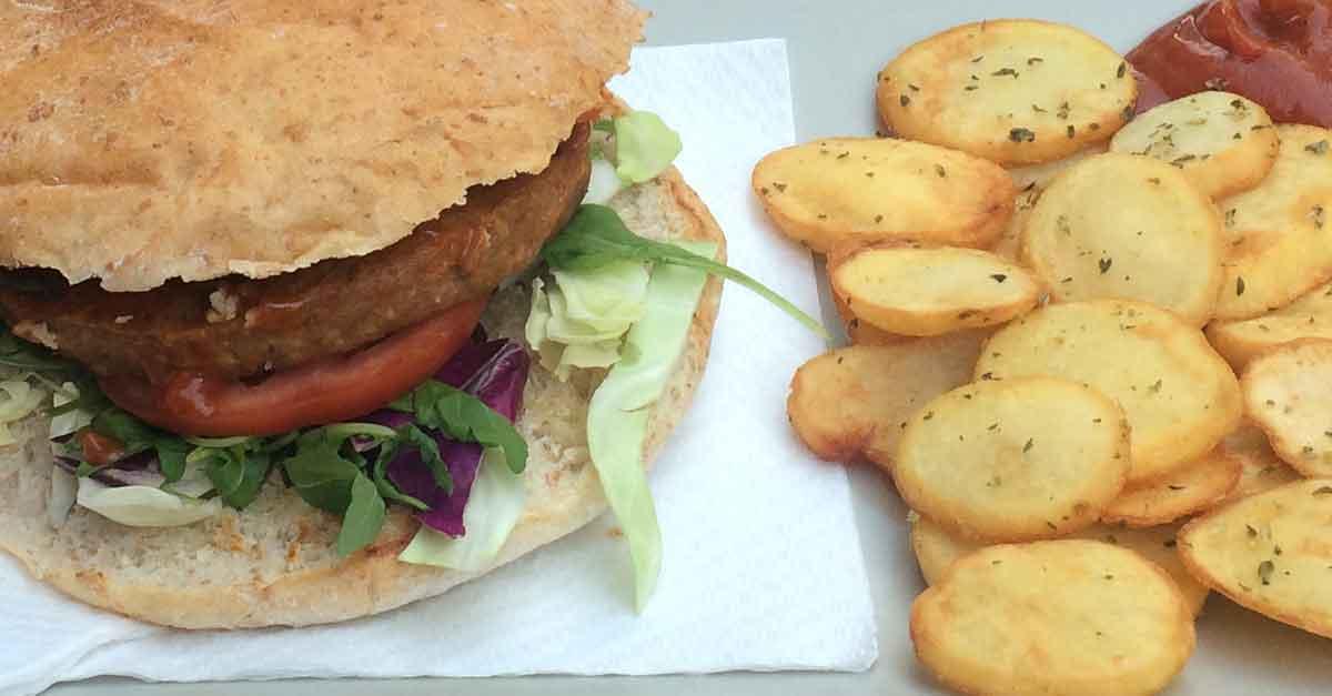 Proteinquellen: Vegan Burger aus Seitan