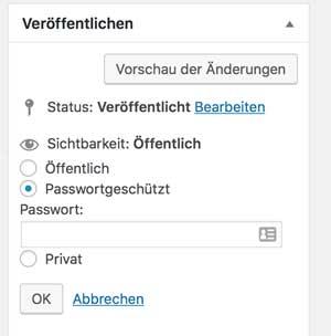 Eigener Onlinekurs Passwortgeschützt