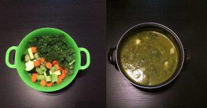 Rezept: Bunte Gemüsesuppe mit Grünkohl