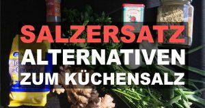 Salzersatz: Salzalternativen zum Küchensalz