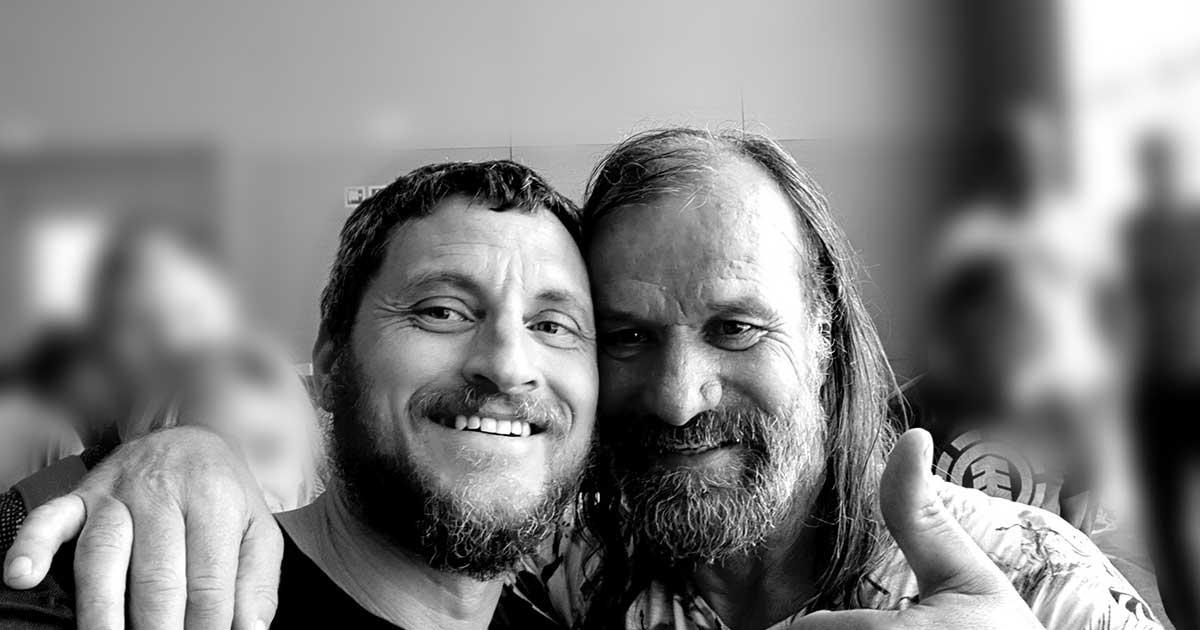 Wim Hof und Mike Lippoldt